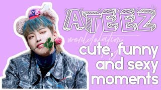 ATEEZ SEXY, CUTE AND FUNNY MOMENTS (+ YUNGI AND WOOSAN MOMENTS)   SPECIAL 100 SUBSCRIBERS!