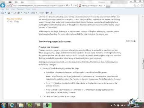 Dreamweaver CS6 Training - Part 9 - Creating a Website Course