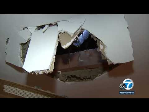Ice possibly from plane falls through roof of IE home | ABC7