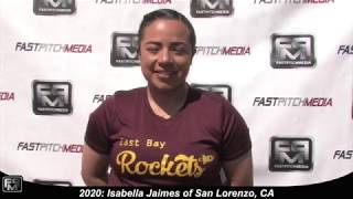 2020 Isabella Jaimes Third Base and Outfield Softball Skills Video