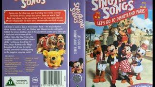 Sing Along Songs   Let's Go To Disneyland Paris [UK VHS] (1996)