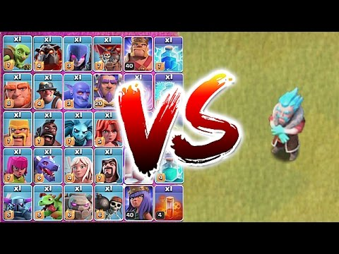 Video ALL TROOPS vs. ICE WIZARD!! ????TROLL TO DEATH!????Clash Of Clans
