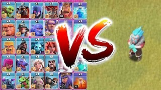ALL TROOPS vs. ICE WIZARD!! 😀TROLL TO DEATH!🔸Clash Of Clans