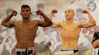 Buakaw vs Yi Long - Official weigh in for Fight of the Century