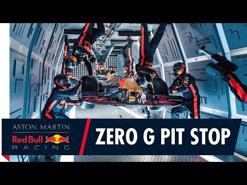 F1 Pit Stop Team in Zero Gravity