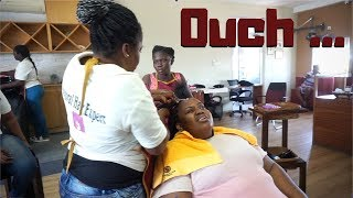 I Went To The FIRST Natural Hair Salon In Ghana | MY AFRICAN HAIR BRAIDING SALON EXPERIENCE