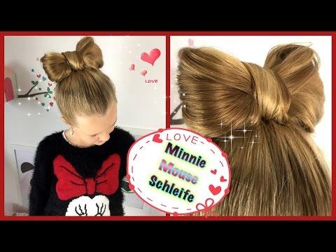 ❤ Minnie Mouse Schleife  ❤ Hochsteckfrisur Schleifendutt  ❤ Frisur für Mädchen