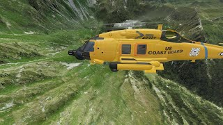 MSFS 2020 _ SH 60 Helicopter  _ US COAST GUARD _ Altiport de Croix de Coeur _ LSVE  _ Switzerland