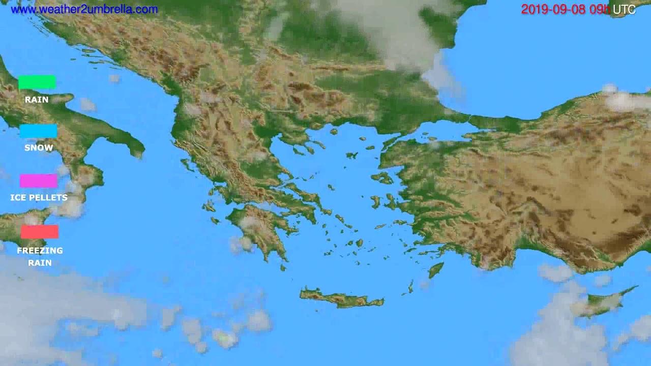 Precipitation forecast Greece // modelrun: 00h UTC 2019-09-06