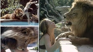'Living With Lion' Young Melanie Griffith And Mom Tippi Hedren With Their PET LION Neil