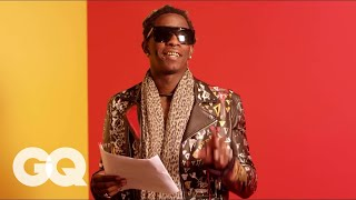 """Young Thug Reads the Lyrics to """"Best Friend"""" So You Can Kind Of Understand Them 