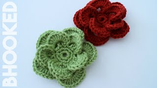 How To Crochet A Flower: Crochet Wagon Wheel Flower Free Crochet Pattern