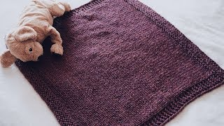 HOW TO KNIT A BABY BLANKET - EASY TUTORIAL | CJ Design By Danii's Ways