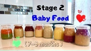 STAGE 2 BABY FOOD (7-9 MONTHS)