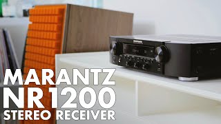 MARANTZ NR1200 Stereo Receiver Review. A HOME THEATER with 2 SPEAKERS!