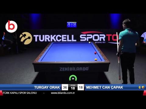 TURGAY ORAK & MEHMET CAN ÇAPAK Bilardo Maçı - 2018 ERKEKLER 3.ETAP-1/8