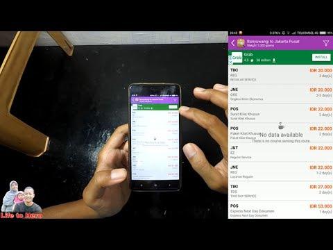 Cara Cepat Cek Ongkir JNE TIKI POS J&T di Smartphone Android