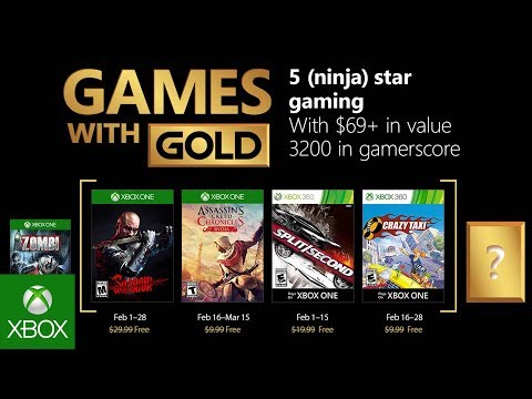 Xbox Games With Gold February 2020.Xbox Games With Gold February 2018 Free Games Revealed By