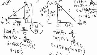 Trigonometry 1-3 Angles Of Elevation