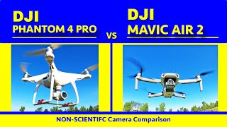 4K 60 FPS Camera Comparison - DJI Phantom 4 Pro vs Mavic Air 2 - Non-scientific camera comparison