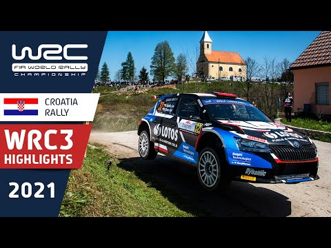 WRC3 2021 第3戦ラリー・クロアチア Day2ハイライト動画