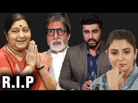 Bollywood Reacts On Sushma Swarajs Demise