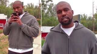 EXCLUSIVE - Kanye West Interrupts Phone Call With Kim Kardashian To Speak With Paparazzo