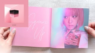 Blackpink SQUARE UP 1st Mini Album FULL UNBOXING Page to Page Pink Version