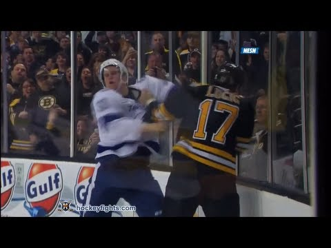 Milan Lucic vs. Keith Aulie
