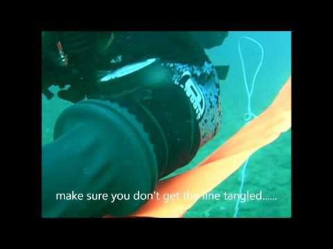 How not to deploy a delayed surface marker buoy (DSMB)