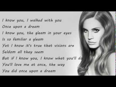 Lana Del Rey - Once Upon A Dream Lyrics On Screen HD