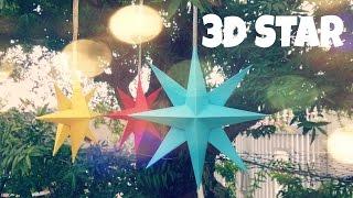 DIY Trang trí Giáng sinh - Cách xếp ngôi sao 3D