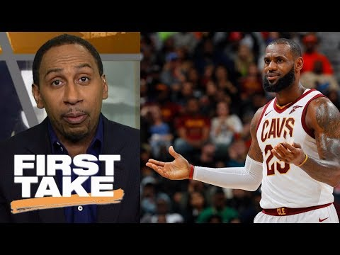 Stephen A. Smith says Cavaliers don't pose a threat to Warriors right now | First Take | ESPN