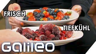 Tiefkühlprodukte vs. frische Lebensmittel: Was schmecken besser und sind gesünder? | Galileo