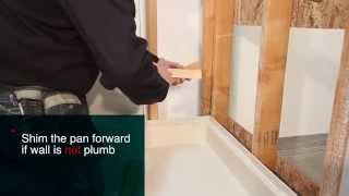 How To Install Standard Shower Pans | Best Bath