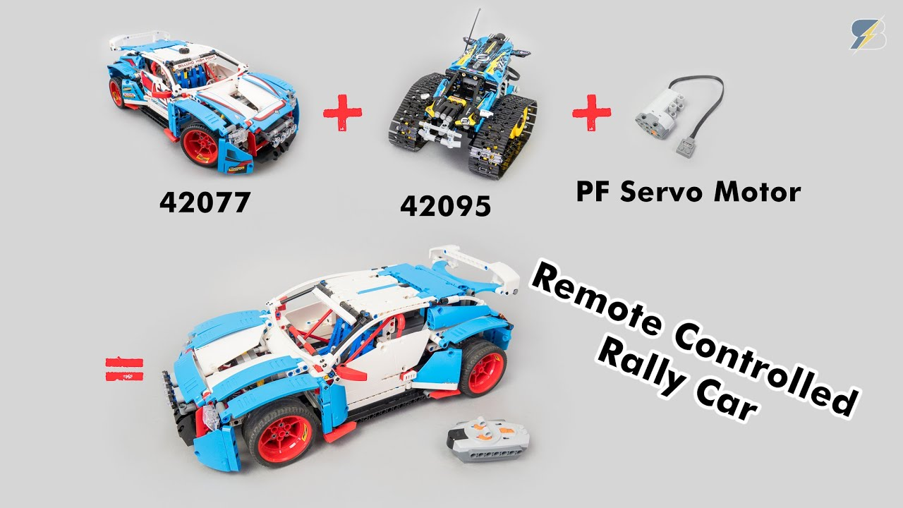 How to motorize easily the LEGO Technic 42077 Rally car with 42095 and a PF Servo