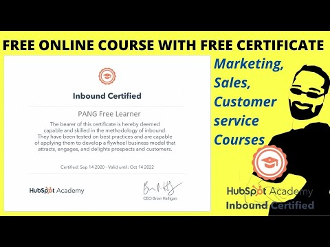 Hubspot Academy | Free Online Course with Free Certificate ...