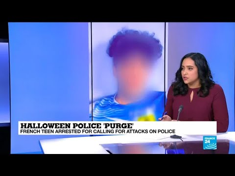 Halloween police purge: French teen arrested for calling for attacks on police