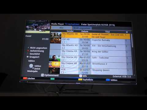 Panasonic Smart Viera TV - Review: Aufnahmefunktionen & Senderverwaltung / Favoriten / Kategorien