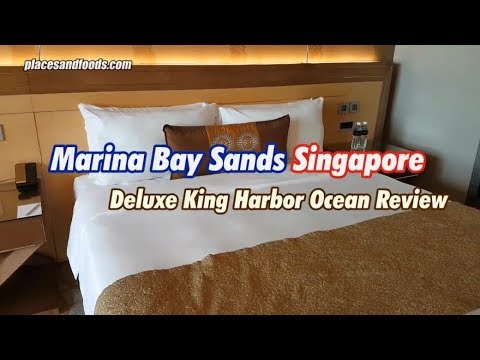 Marina Bay Sands Singapore Deluxe King Harbour Ocean Room View Review