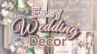 HOW TO MAKE A MIRROR CALLIGRAPHY WEDDING SIGN | Aesthetic Wedding Decor on a Budget | heyitsjenn