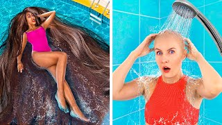 Thin Hair vs Thick Hair Problems/ Funny Awkward Situations