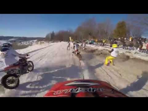 Skijoring Is A Great Way To Get Run Over By A Dozen Motorcycles