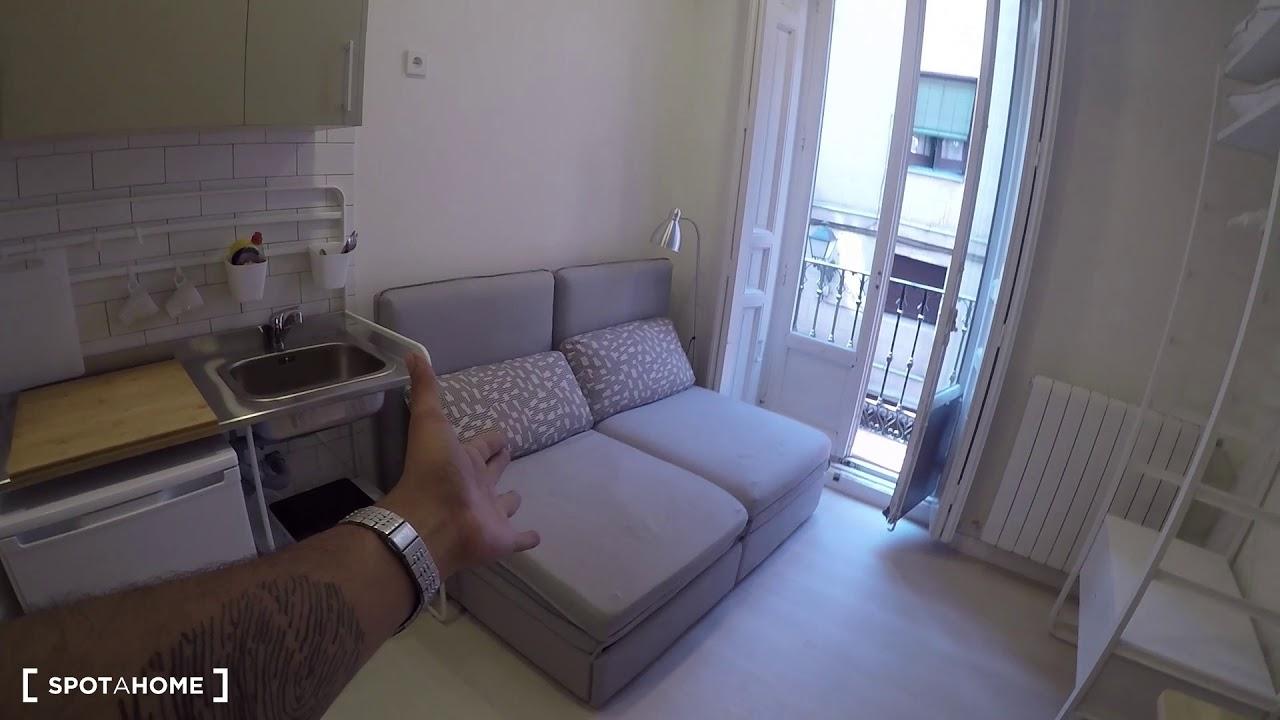 Cozy studio apartment for rent in hip neighborhood of Malasaña