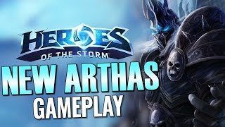 Heroes of the Storm: New Arthas Gameplay!
