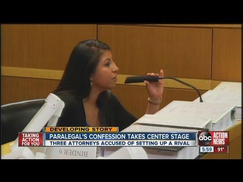 Dramatic testimony in bar trial:
