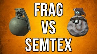 Black Ops 2 In Depth - Frag vs. Semtex (Damage, Radius, Area, & More)