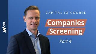 Companies Screening - Capital IQ Fundamentals Part 4 of 8