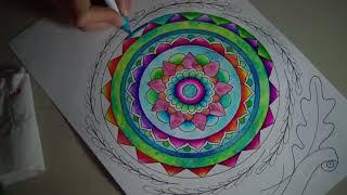 Proceso mandala + color