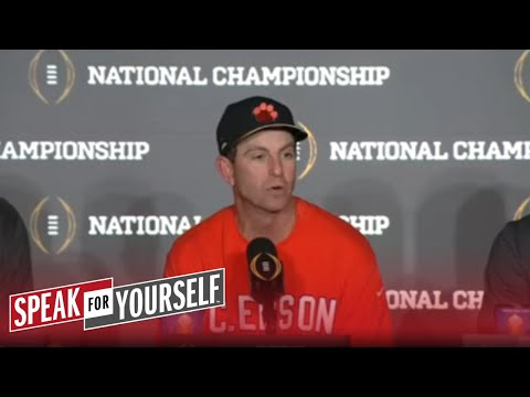 Does Colin Cowherd owe Dabo Swinney and Clemson an apology?   SPEAK FOR YOURSELF